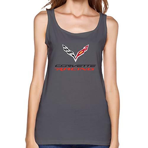 - Cxcai Women's Youth Girls Corvette Logo T Shirt T Shirt Summer Sleeveless Round Neck Shirts Sport Tank Top S Deep Heather