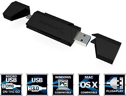 Amazon.com: Sabrent USB 3.0 Super Speed lector de tarjetas ...