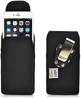product image for Turtleback Belt Clip Case Made for Applie iPhone 6 Plus (5.5) Black Vertical Holster Nylon Pouch with Heavy Duty Rotating Belt Clip Made in USA