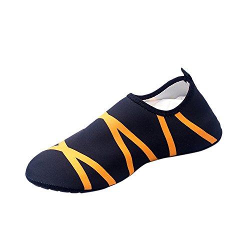 Mannen Vrouwen Pull-on Sneldrogend Huid Watersport Aqua Schoenen Sokken Outdoor Sneaker Holey Ventilatie Kpu Loopzool 3orange
