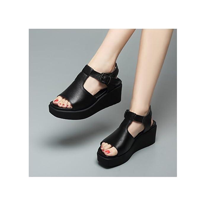 Moda Scarpe 5 Toe Sandali Donna Open Eu38 Qidi Gomma Bianco Di Nero Dimensioni Singole Colore uk5