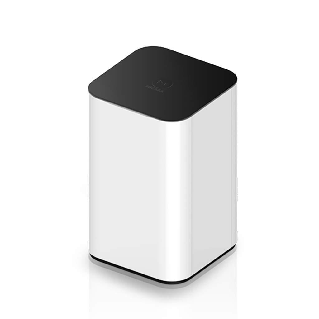 amazon Poubelle automatique 16L sans contact avec empreinte digitale Intelligent Induction Acier inoxydable et poubelle en résine Couvercle silencieux Close White pas cher prix