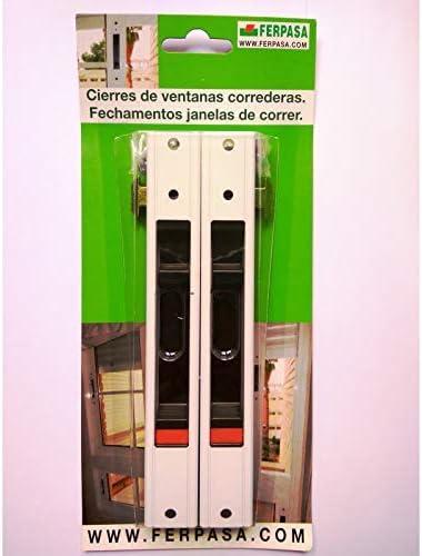 CIERRE VENTANA CORREDERA RECTANGULAR BLANCO C/TORNILLOS (pack 2 uds): Amazon.es: Bricolaje y herramientas