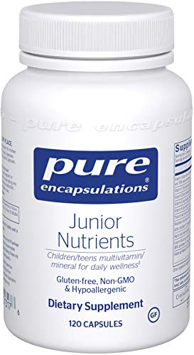 Pure Encapsulations - Junior Nutrients - Hypoallergenic Multivitamin/Mineral Blend Without Iron for Children Ages 4 and Up - 120 Capsules