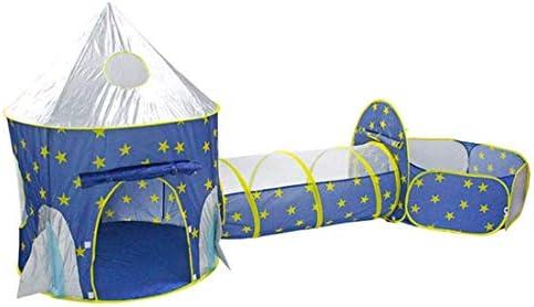 Kids Game Tent, Speelhuis voor kinderen Baby Educatief speelgoed, Tunnel Kruipspel Yurt Fence Space Capsule, Ademend Mesh Anti-mug,