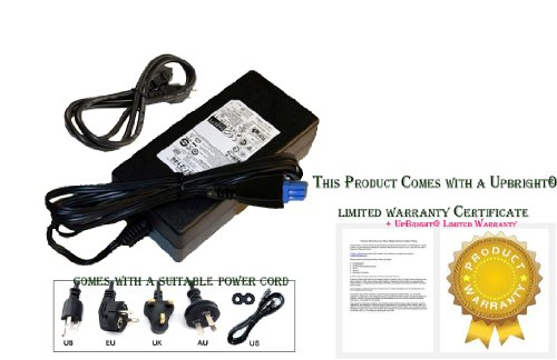 UpBright 32V 2-2.5A AC Adapter Replacement For HP ADP278 0957-2093 0957-2283 Officejet Pro 8000A 8500A 8600a L7300 L7350 L7480 L7580 L7750 L7650 L7680 L7700 L7710 Photosmart 8250VXi K5300 K5400 K8600