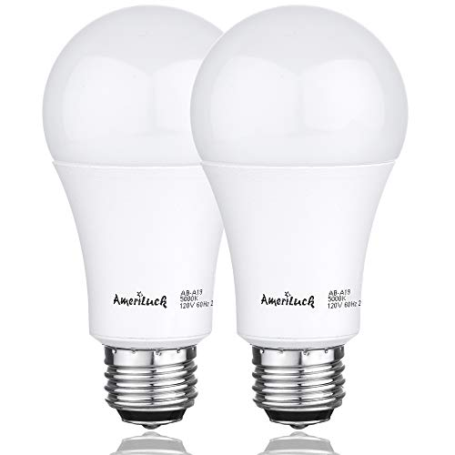 AmeriLuck 3-Way LED A19 Light Bulb 50-75-100W Equivalent 3000K Warm White (2 Pack)