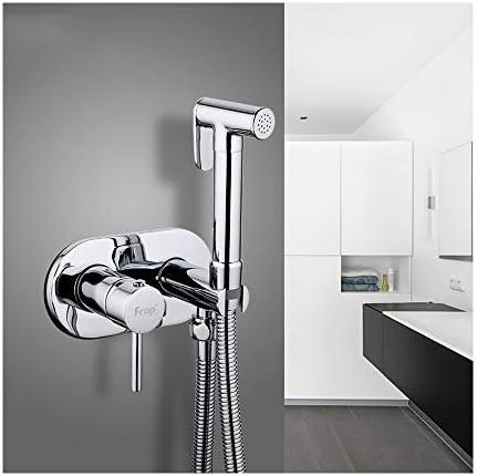 ハンドヘルドビデスプレーキット真鍮クロムポータブル布おむつウォッシャーシャワースプレーセットトイレクリーニング、個人衛生、床クリーニング用の壁掛け式バスルームシャワービデタップ