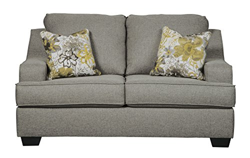 Benchcraft - Mandee Contemporary Upholstered Loveseat - Pewter