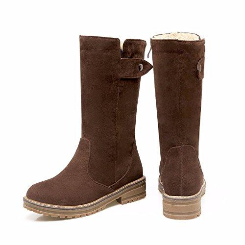 Braun warme Stiefel in und Baumwollstiefel sowie Herbst aus Martin gefrostet rund und Samt Winter Dichotomanthes 6C0xgwzq