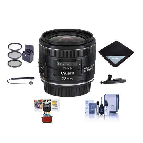 Canon EF 28mm f/2.8 はUSMレンズです。- バンドル - 58mmフィルターキット、レンズラップ(15x15) レンズキャップリーシュ、プロレンズクリーニングキット、レンズペンレンズクリーナー、Macソフトウェアパッケージ。   B07H5BVRDG
