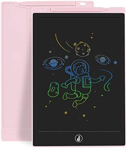 Sunany LCD Writing Tablet,11-Inch Colorful Kids Drawing Pad Doodle Board, Electronic Writing Board Drawing Board Reusable Doodle Pad Gift for Kids at Home and School(Pink)