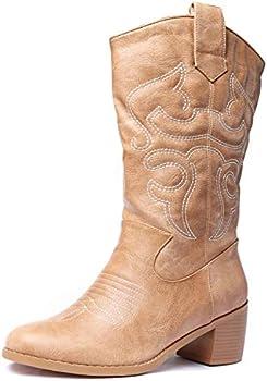 Odema Women's Western Cowboy Cowgirl Boots