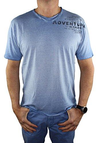 Pioneer Herren T-Shirt Verschieden Farben und Größen bis 6XL 5553/2771 (4XL, riviera (557))