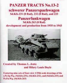 Panter tiger shoes Panzer Tracts No.13-2 Schwerer Panzerspaehwagen (Sd.Kfz.231 232 & 233) and Panzerfunkwagen (263) development and production from 1935 to 1943