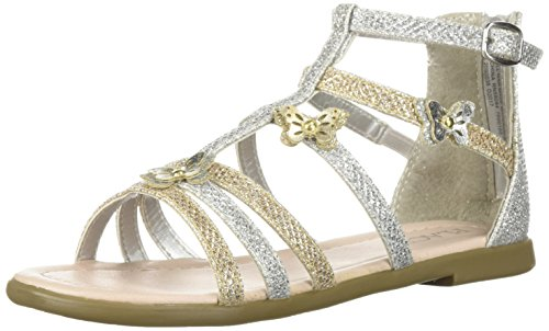 The Children's Place Girls' Sandal, Mix Metallic, TDDLR 9