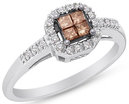 Sonia Jewels Invisible Chocolate Engagement product image