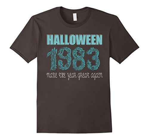 Halloween Costume Birthday Party Ideas (Mens 34 th Birthday shirt Halloween costume ideas 1983 T-shirt XL Asphalt)