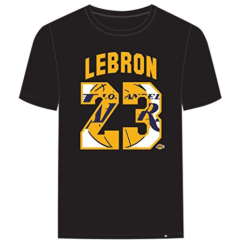 47  Men s Los Angeles Lakers Lebron James T Shirt (Black 1d2f57678