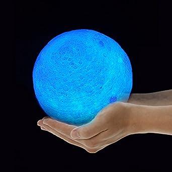 Micromake Lámpara de la luna de la impresión 3D con la lámpara de ...