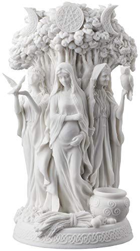 Danu Irish Triple Goddess of the Tuatha De Danann Statue White Finish