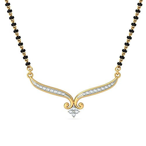 14 K Or jaune 0,21 CT TW White-diamond (IJ | SI) Mangalsutra
