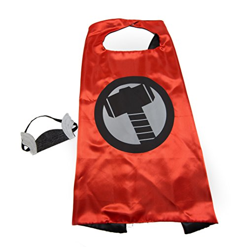 Red Thor Superhero Kids Cape and Mask (Thor Outfits)