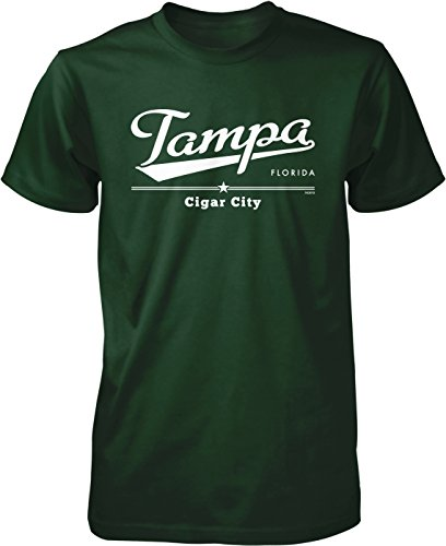 Tampa, Florida, Cigar City Men's T-shirt, NOFO Clothing Co. XXL Forest