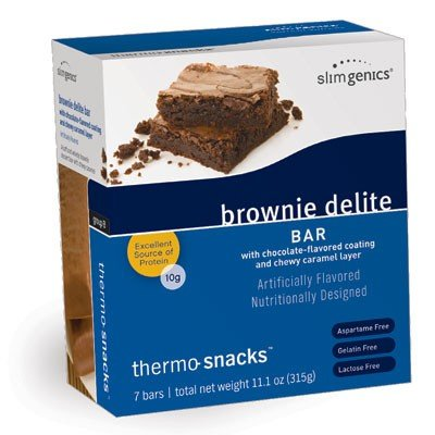 - SlimGenics Thermo-Snacks |10g Protein - Alleviate Cravings, Increase Energy and Mental Focus, Enhance Weight Loss Results - Kosher Certified, 150 Calories - 7 Bars | Brownie Delight