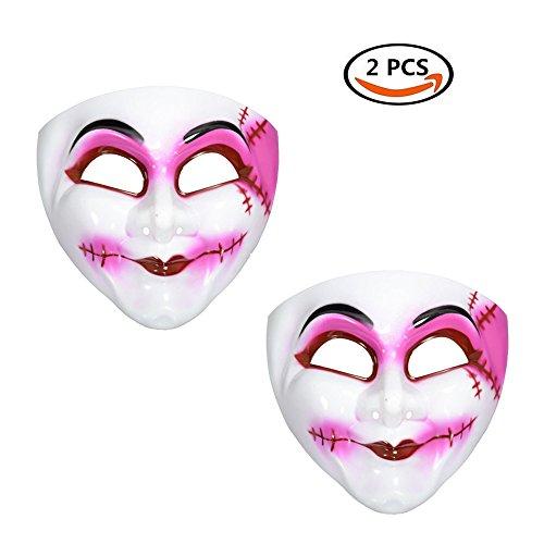 Adults Freak Show Scary Clown Halloween Fancy Dress Costume Accessory Plastic (Couples Freak Show Costumes)