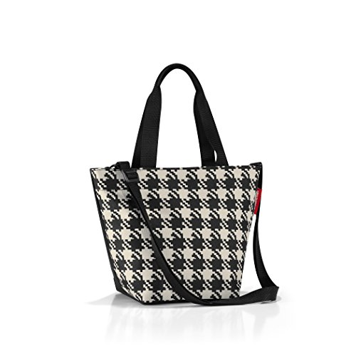 reisenthel Shopper XS, Extra Small Zippered Tote Bag with Shoulder Strap, Fifties Black ()