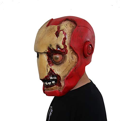 Halloween Iron Man Latex Mask Creepy Mask Horror Costume Party Props,01,L for $<!--$43.03-->
