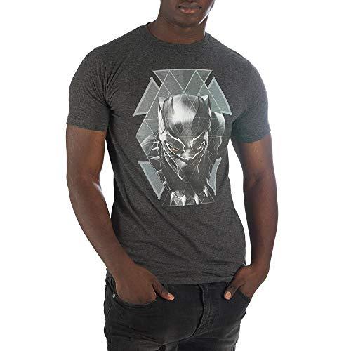 Marvel Black Panther Geometric Face T-Shirt Tee Shirt-Small ()