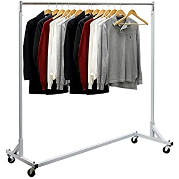 Amazon.com: BigRoof Clothing Rack, 6.3FT Heavy Duty Clothes ...