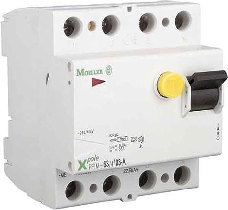 Eaton 236779 Fi-Schutzschalter 4-polig 40A 500mA PXF-40/4/0,5A ...