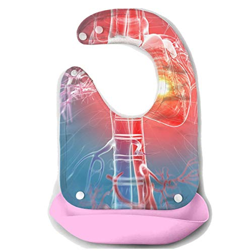 Waterproof Baby Super Bib Feeding Roll-up Bibs Heart Attack Silent Silicone Bib For Babies&Toddlers]()