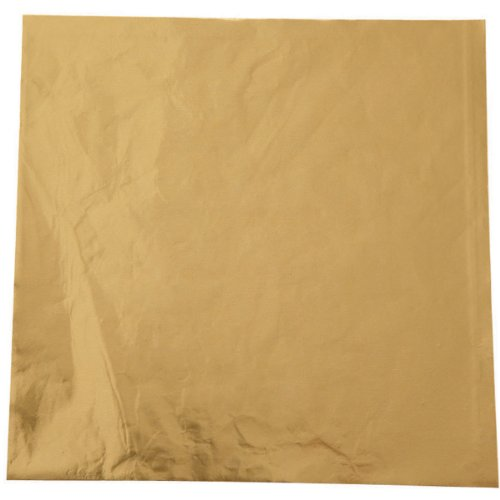 Wilton Foil Candy Wrappers, 4 by 4-Inch, Gold, 50-Pack - Foil Candy Wrappers