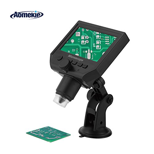 - Aomekie Soldering Microscope Digital 1-600X Zoom Magnifier with 4.3