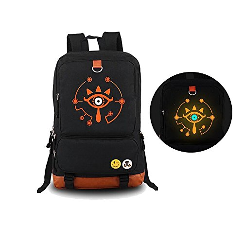 The Legend of Zelda: Breath of The Wild Sheikah Eye Luminous Backpack Schoolbag(1) (Zelda Breath Of The Wild Thieves Hideout)