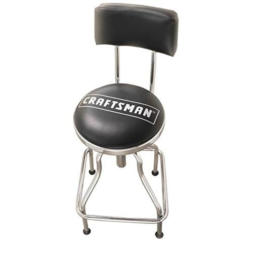 Craftsman Chrome/vinyl Hydraulic Hydraulic Stool (Craftsman Adjustable Seat)