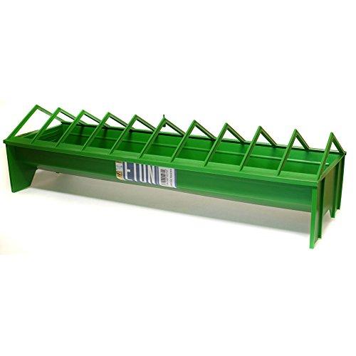 Tusk Plastic Chicken Trough Feeder (Medium) (Green)