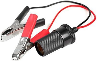 Q46c 1 5m 12v Auto Kfz Zigarettenanzünder Steckdose Adapter Buchse Batterieklemme Kabellänge Ca 150cm Farbe Schwarz Rot Navigation