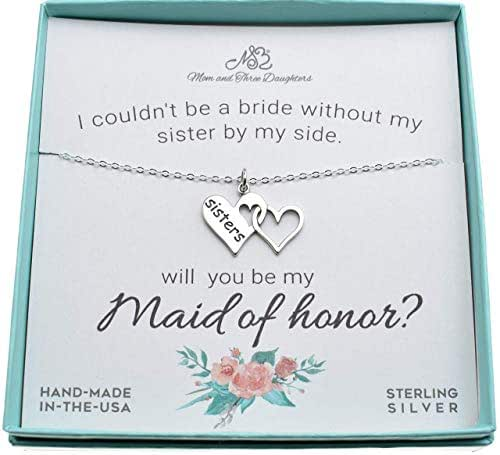 Amazon.com: Maid Of Honor Proposal For Sister In Sterling