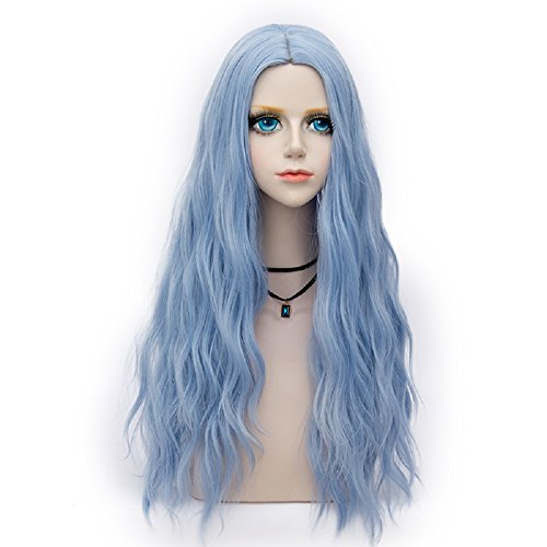 Probeauty Miracle &Forest Lady Collection Heat Resistant Synthetic Wigs Long Curly Women Cosplay Wig (70cm, Sky Blue F29) by Probeauty
