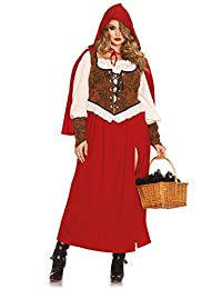 Plus Size Full Figure Woodland Red Riding Hood Costume