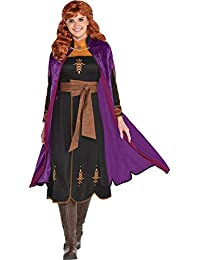 Anna Act 2 Halloween Costume for Women, Frozen 2, Includes Dress and Cape