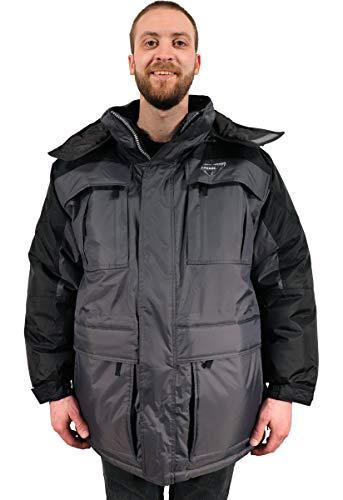 Freeze Defense Mens Big and Tall 3in1 Winter Jacket Coat & Vest (3XL / 3X Gray) ()