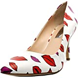 inc international concepts heels - INC International Concepts Womens ZITAH Pointed Toe Leather Classic Pumps, White, Size 8.5