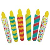 Deluxe Birthday Candle Assortment Dec-On Edible Sugar Cupcake or Cake Topper