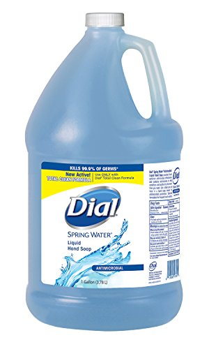 (Dial 00017000159263 Spring Water Antimicrobial Liquid Hand Soap 4/1 gal Refill (Total Clean - Bzc) , 6.7